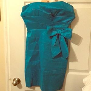 Turquoise bow dress